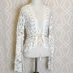 Jackets & Blazers - *LAST ONE* Antique Lace Bell Sleeve Cardigan